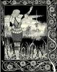 How Sir Bedivere Cast the Sword Excalibur into the Water, by Aubrey Beardsley (1894)
